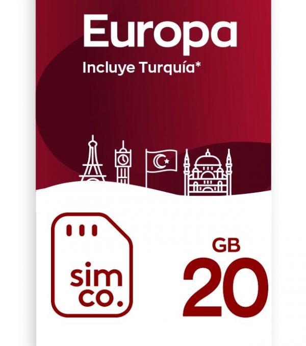 Plan Europa 20 GB (9 GB en Roaming)